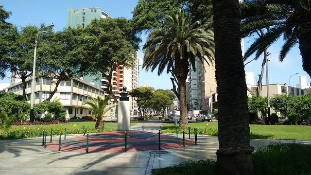 Park in Av. Jose Pardo, Miraflores, Peru