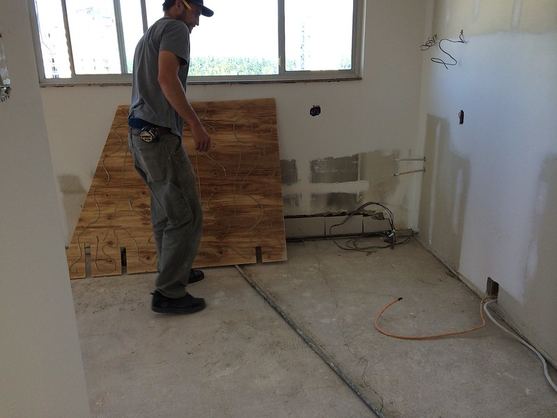 kitchen subfloor replacement
