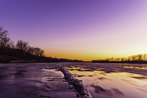 Missouri River - Glasgow sunset 4