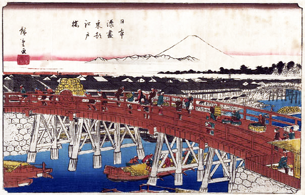 Nihonbashi - Mount Fuji as seen from Nihonbashi