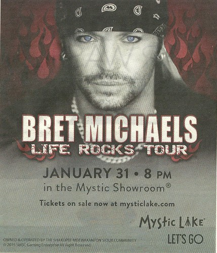 01/31/15 Bret Michaels @ Mystic Lake Casino, Prior Lake, MN