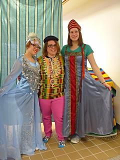 Aryn, Jora & Amy at Spanish Club Carnaval fiesta