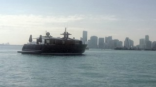 Yacht in Biscayne Bay