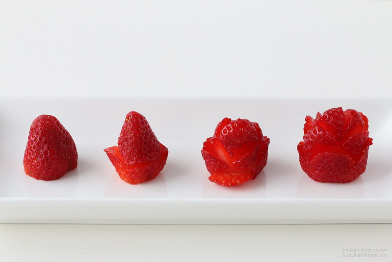 Strawberry Roses, Carving Fruits