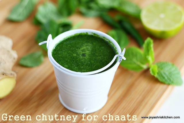 Green chutney for chaat