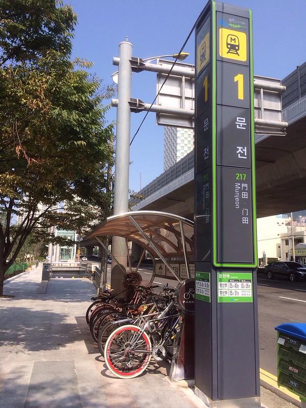 門田駅から地上へ