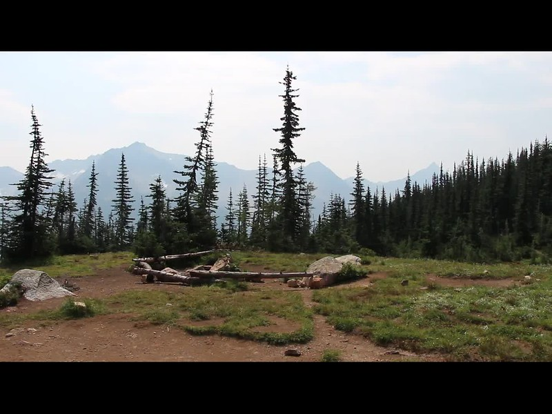 1151 Panorama video of the WACS2609 Campsite on the PCT near Methow Pass