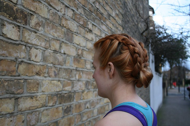 Double dutch plait with a bun