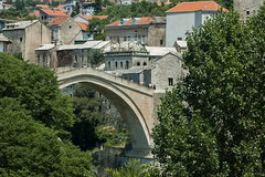 Mostar Bridge / Most Hidden By Trees