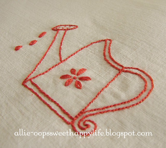redwork for girls, new pattern