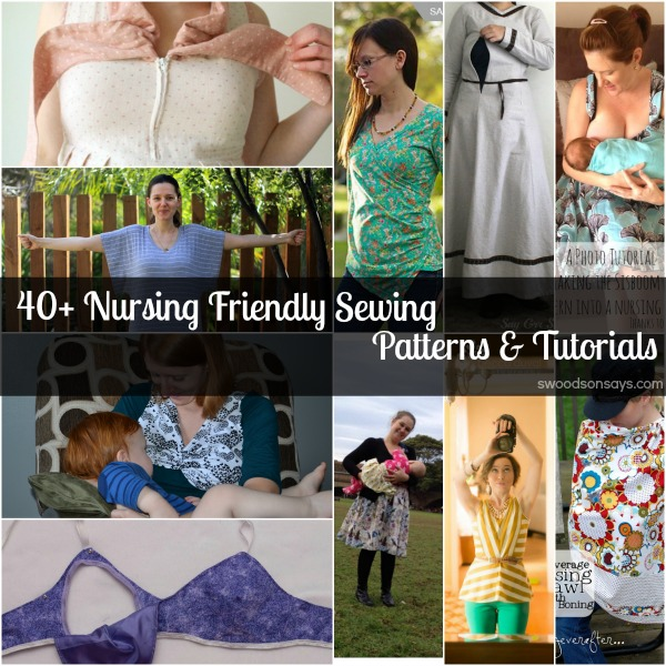 e9e8fcab39632 60+ nursing friendly sewing patterns - Swoodson Says