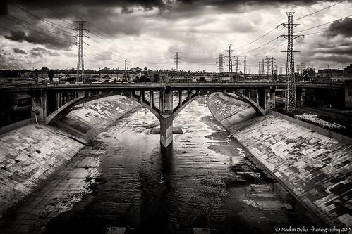 The LA River - Black and White
