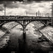 The LA River - Black and White by Puckman2012