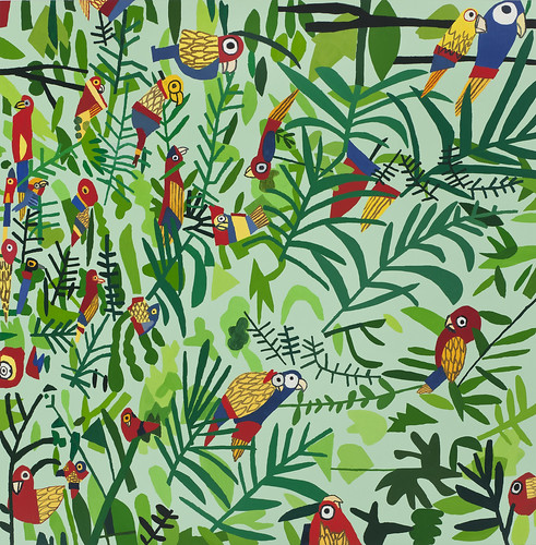 Jonas Wood, Untitled (Parrot Patterns), 2012