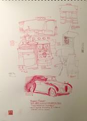 """250. Robert Morley: """"Pompous Windbag"""" Rolls Royce Phantom V, for a design for the 38th villain of the Batman series, 1966"""
