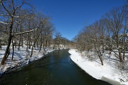 newyorkcity landscapes urbannature newyorkbotanicalgarden snowscenes bronxriver