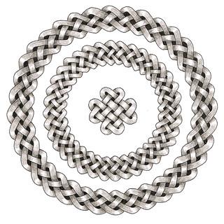 Circular Celtic Knots