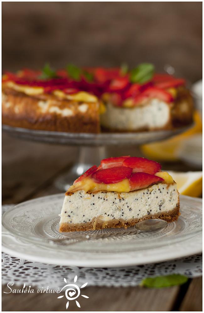 Citrininis sūrio tortas su aguonomis (3)