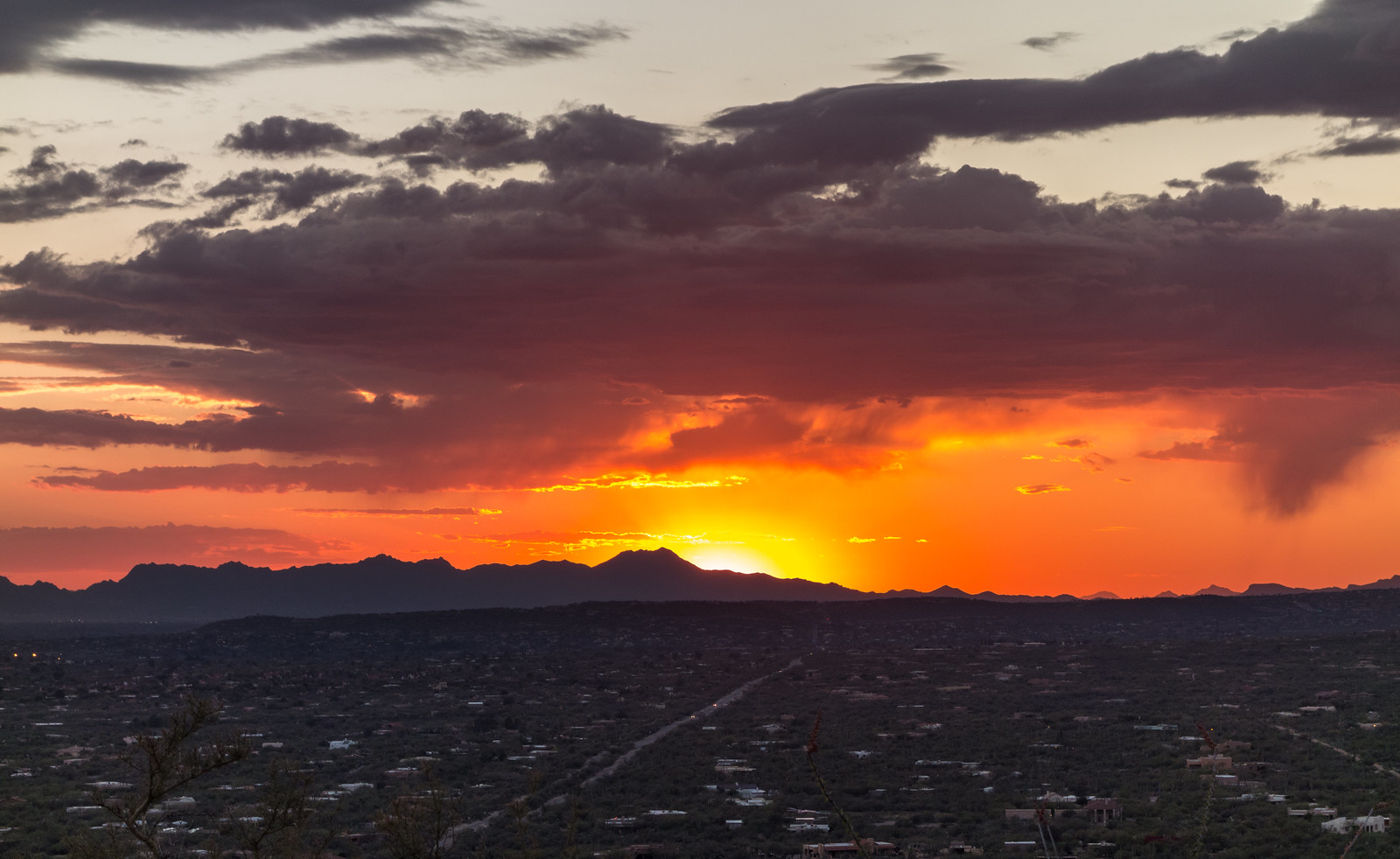1503 Sunset from the Agua Caliente Canyon Trail