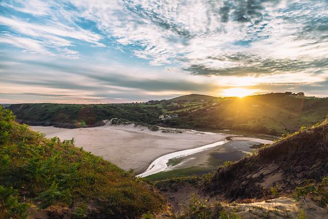 Sunset at Three Cliffs Bay, Gower