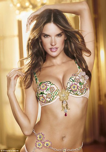 Post Maternity, Alessandra Ambrosio become $2.5m Fantasy Bra Model