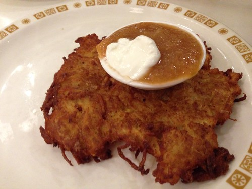 single latke from Saul's Deli
