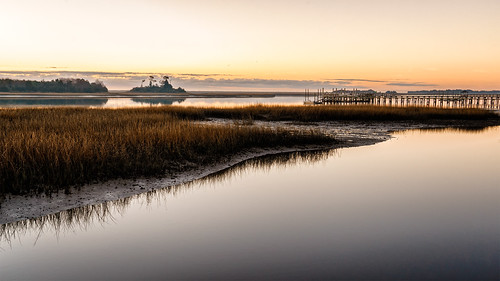 winter sunrise pier wrightsvillebeach waterway wilmingtonnc intracoastalwaterway sonyilce7r sel2470z