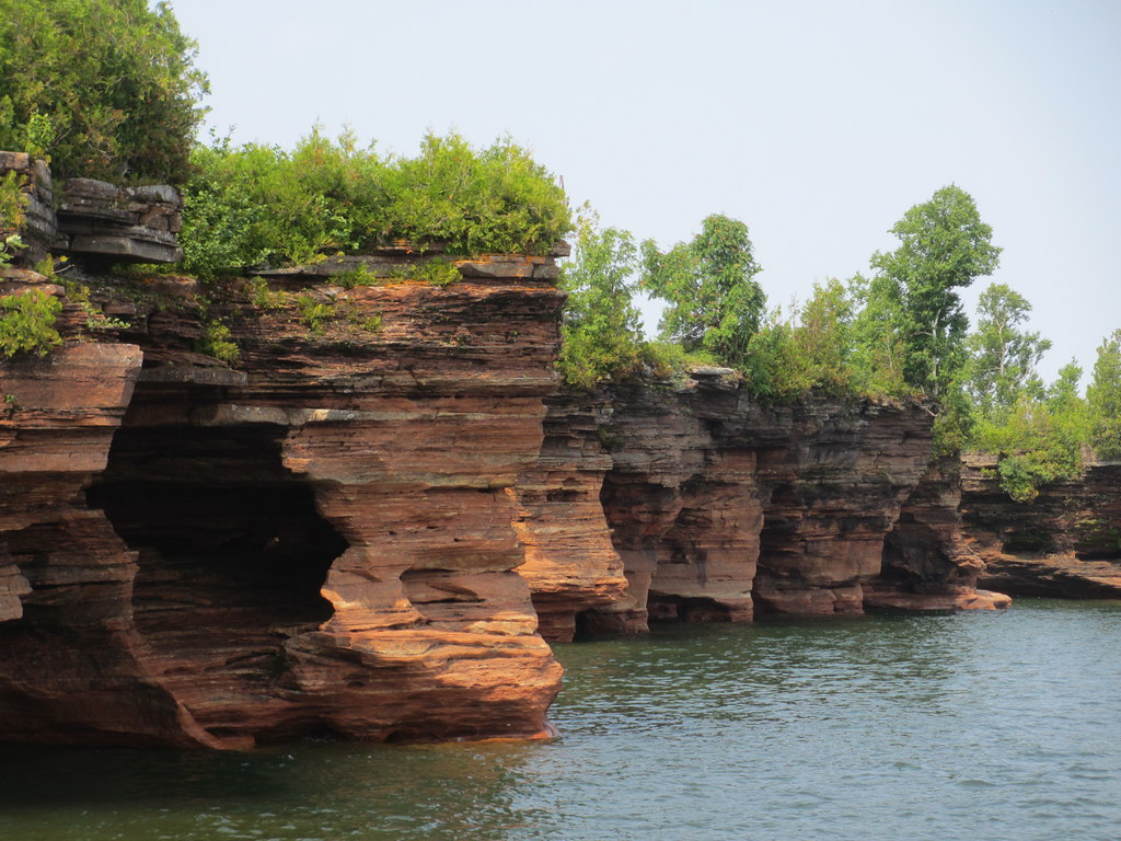 Coast with sea caves, Devils Island, Apostle Islands, Wisconsin