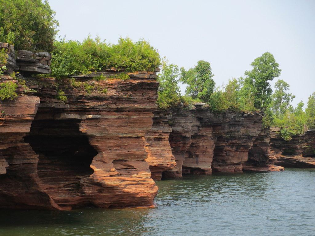Coast with sea caves, Devils Island, Apostle Islands, Wisconsin