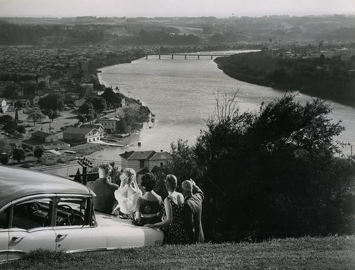 Whanganui River and City from Durie Hill, 1958