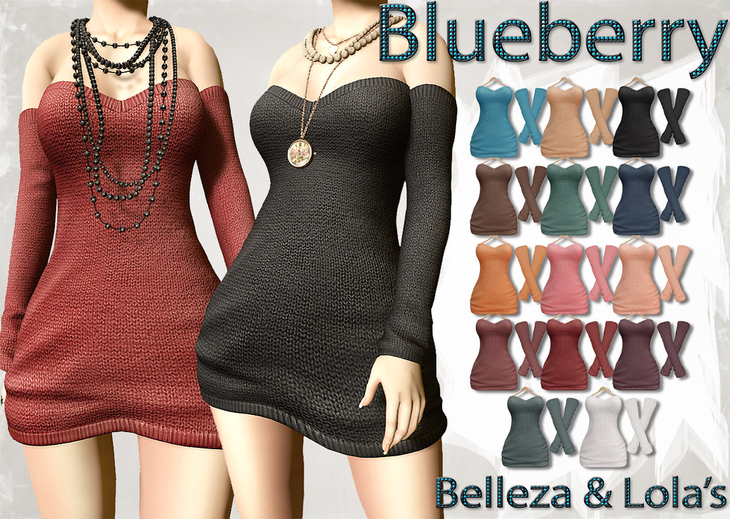 Blueberry Rox Sweater Dresses with Arm Warmers