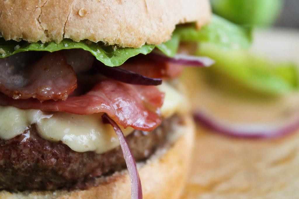 recette de Burger au bacon