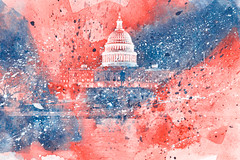 Acrylic Capitol - Red White & Blue
