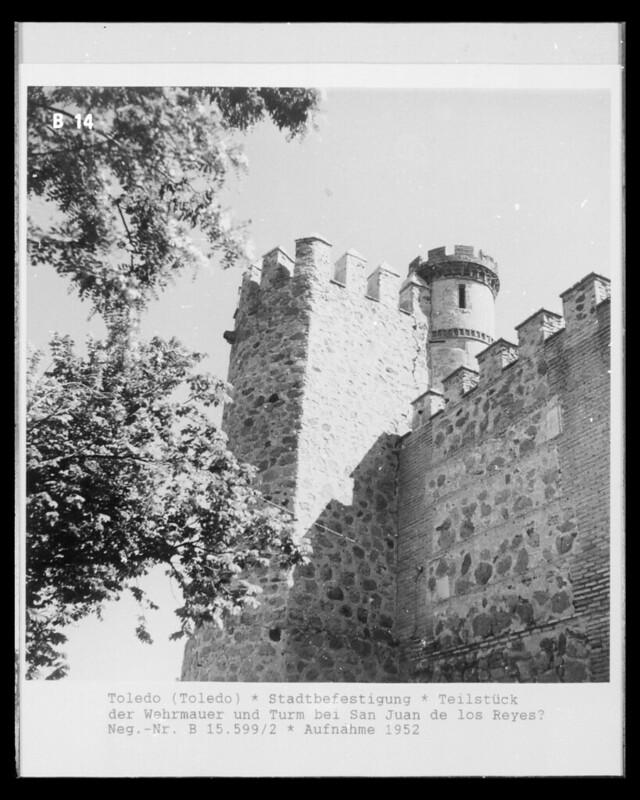 Palacio de los duques de Maqueda en 1952. Fotografía de Erika Groth-Schmachtenberger