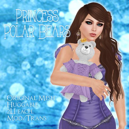 Princess Polar Bears Poster