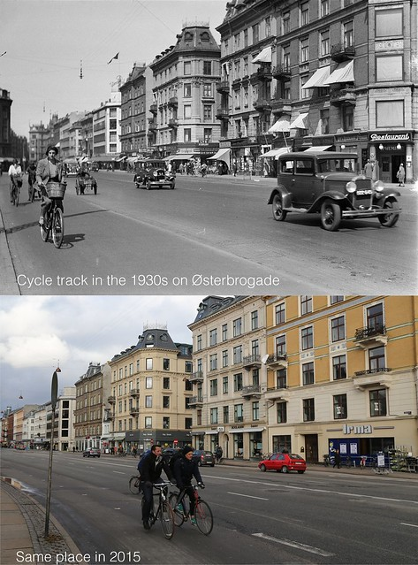 Copenhagen Cycle Tracks 1930s-2015 ?sterbrogade