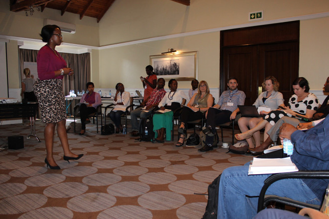 ILRI's Muthoni U Njiru facilitating a session during the ResUp Meet Up Exchange in Nairobi