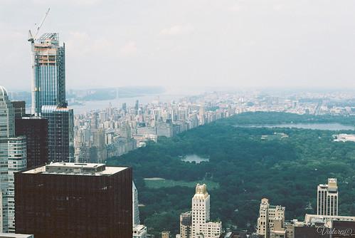Вид на Центральный парк с Рокфеллеровского Центра. Central Park from Top of the Rock. New York. USA