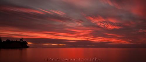longexposure red sea water clouds sunrise dawn