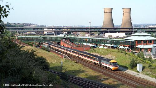 train diesel sheffield railway passenger britishrail southyorkshire highspeedtrain class43 intercity125 43003 meadowhallinterchange