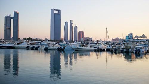 leica sunset sea reflection skyscraper landscape boats island al desert dusk united uae emirates arab abu asph mohamed m240 summiluxm 11435 dhabu haykal khubeirah