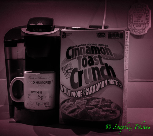 """coffee and Cinnamon Toast Crunch"""