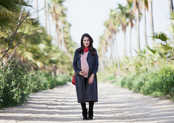 בלוג אופנה ישראלי, אאוטפיט, חולצת פסים, אפונה בלוג אופנה, בנדנה