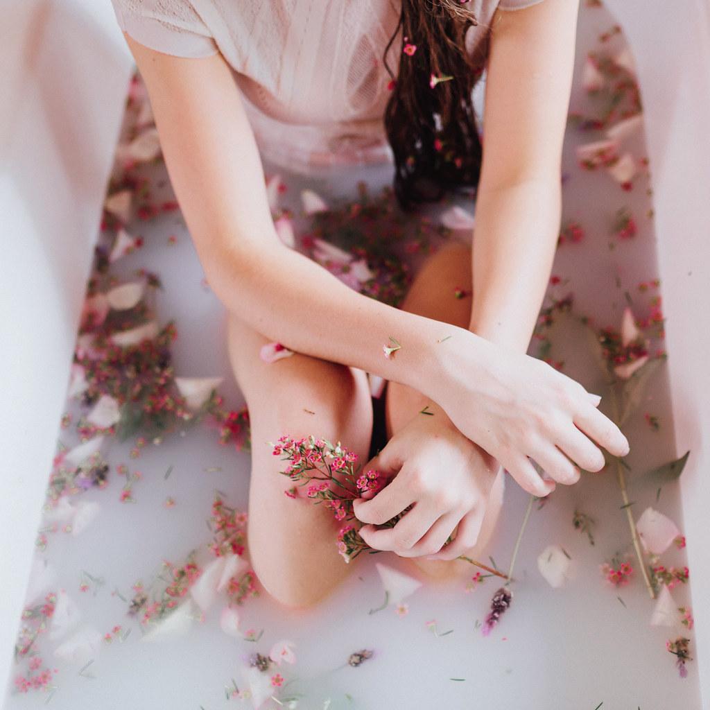 petals and milk