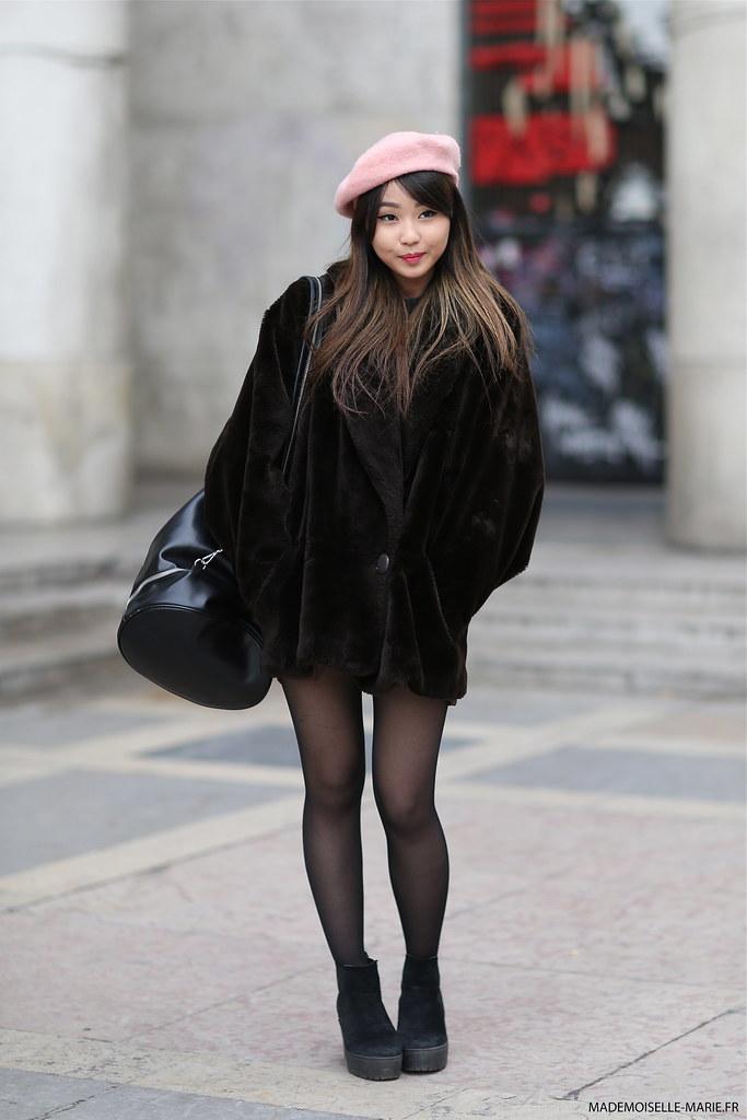 Cindy at Paris Fashion week menswear