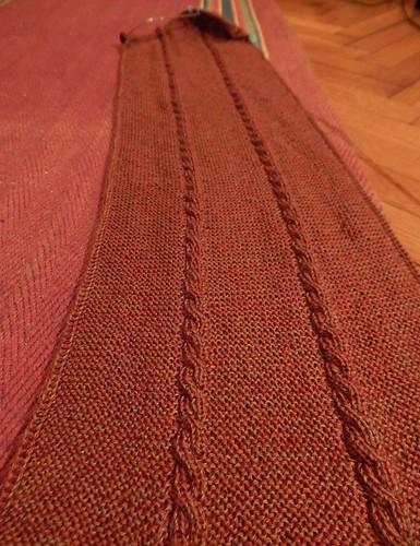 шарф со жгутами на середине 1