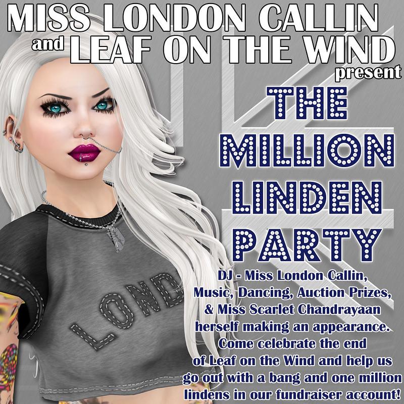 Leaf on the Wind - Million Linden Party