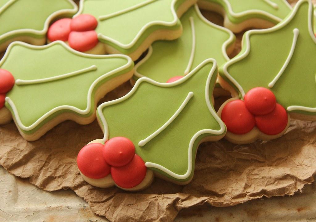 Holly Cookies Hr Sweetsugarbelle Flickr