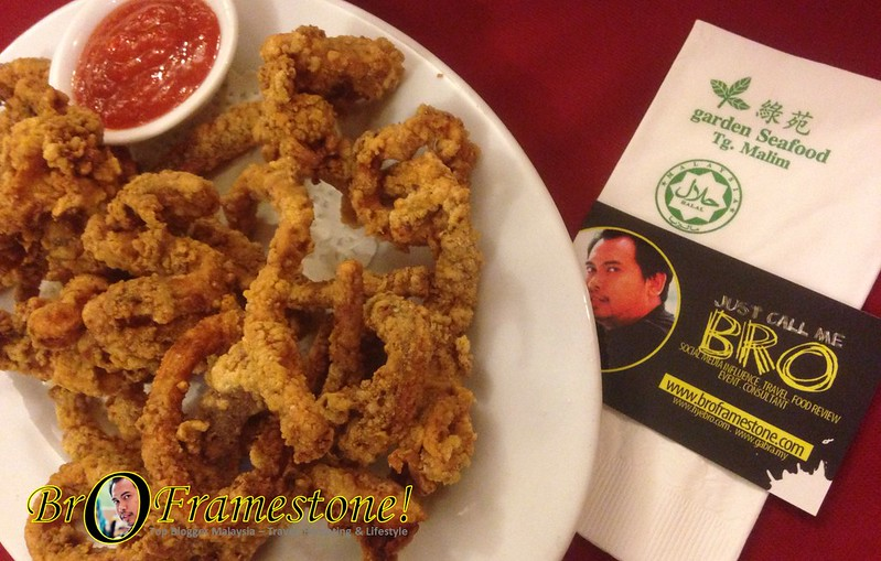 Fried Sotong with Dry Chili - Garden Seafood Tanjung Malim, Perak