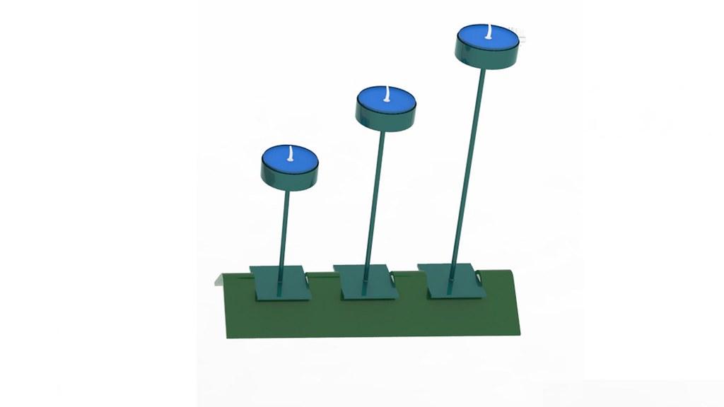 3d Candles Textured 3d Model